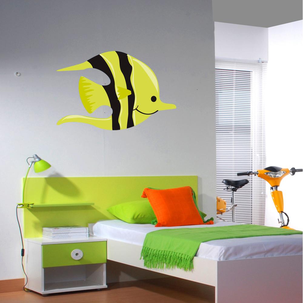 Artesanato Jornal E Cola ~ Autocolantes decorativos Autocolante decorativo infantil peixe