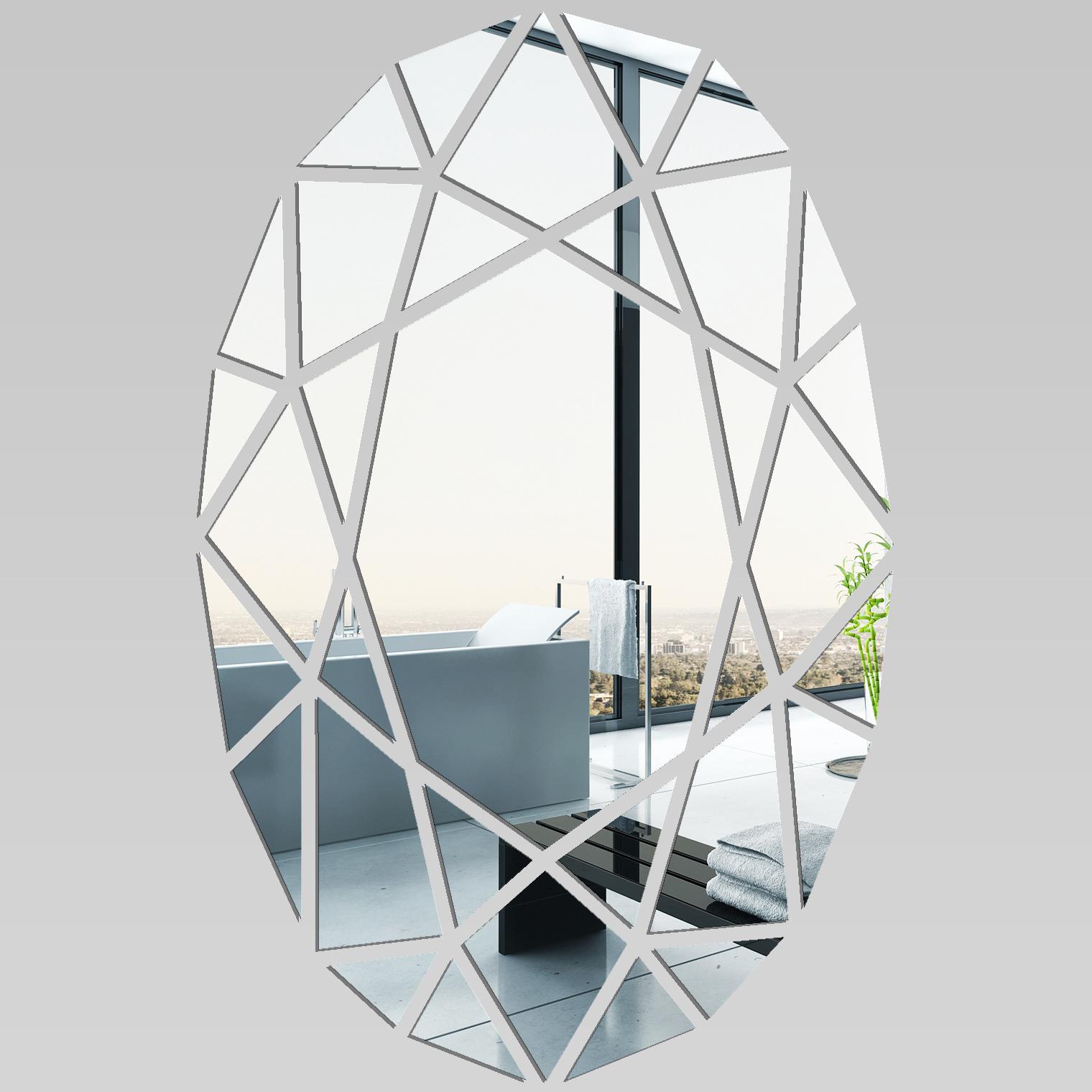 Autocolantes decorativos espelho decorativo mosaico for Rouleau autocollant miroir