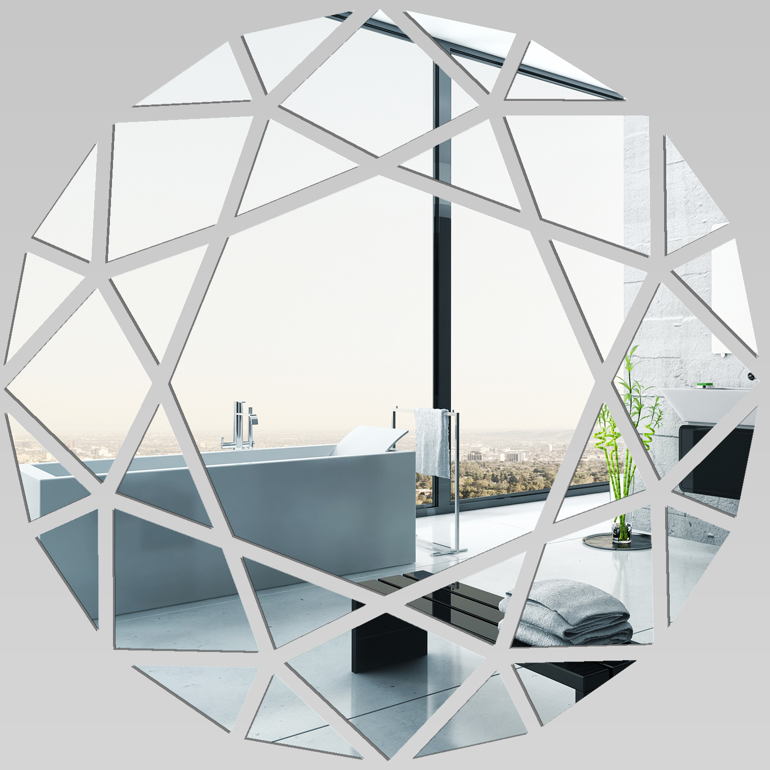 Autocolantes decorativos espelho decorativo redondos - Miroir mural design pas cher ...