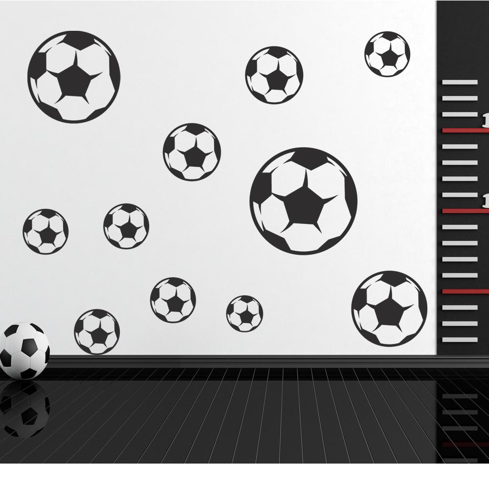 Autocolantes decorativos   Kit Autocolante decorativo 12 bola futebol b6c1189f46146